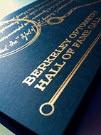 Berkeley Hall of Fame Gala invitation design by Leila Singleton