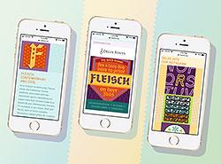 Delve Fonts responsive e-newsletter by Leila Singleton